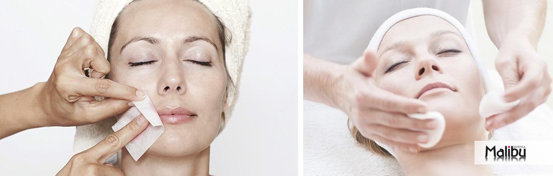 Esempio di pulizia del viso da Malibu Roma